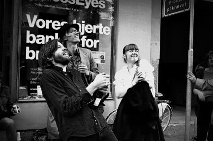 Nils Lass, Daniel Boysen and Julie Mørkeberg at Cross Eyes - Århus, Danmark