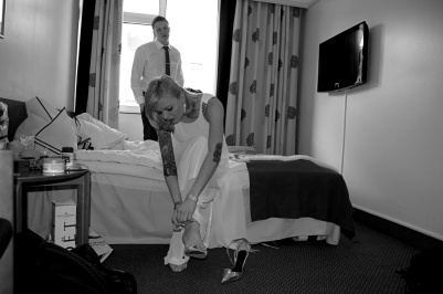 Preparation time. Carol and the proud John, Richmond Hotel, Copenhagen